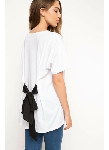 DeFacto Baskılı Bluz Beyaz
